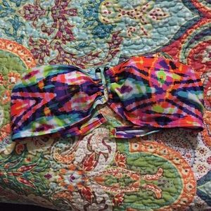Other - Cute and colorful bandeau swimsuit top